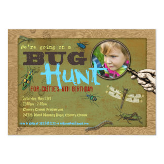 Bug Hunt Insect Party Photo Invitation