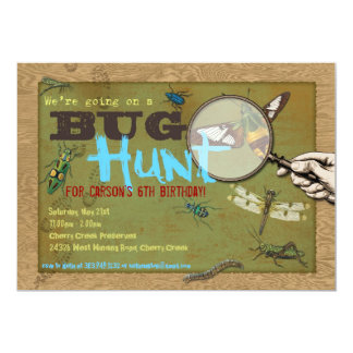 Bug Hunt Insect Photo on Back Party Invitation