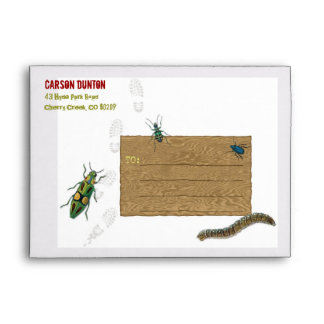 Bug Hunt Party Personalized Envelope