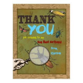 Bug Hunt Thank You Postcard