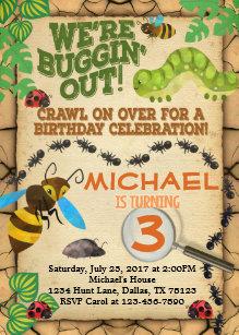 Bug birthday invitations announcements zazzle bug insect birthday party invitation invite boy filmwisefo