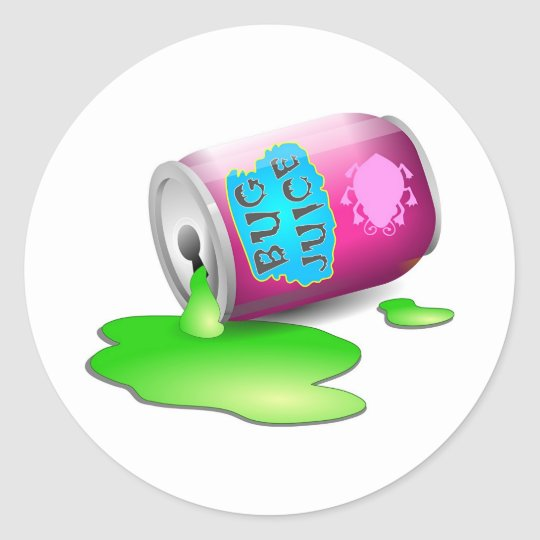 Bug Juice Classic Round Sticker