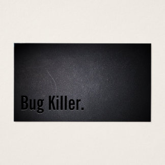Bug Killer Pest Control Elegant Black Business Card