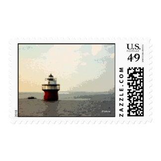 Bug Light, Duxbury Pier Light--postage