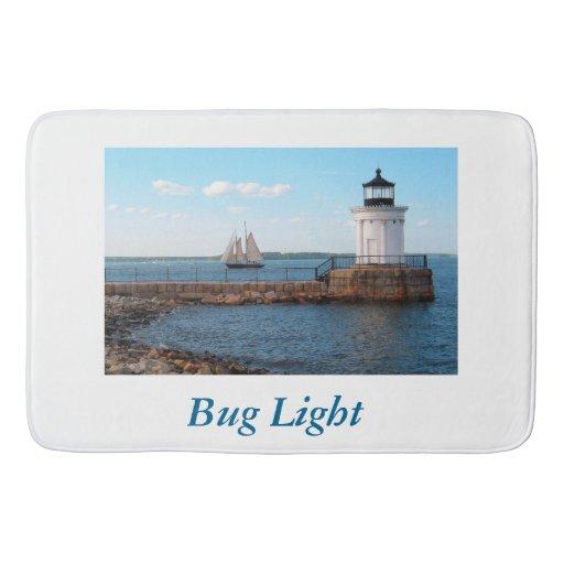 Bug Light Lighthouse Bath Mat Zazzle