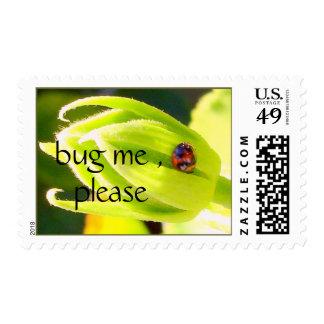 , bug me , please postage stamp