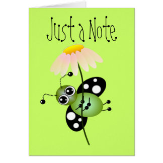 Bug Note Card