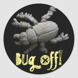Bug Off! Beatle Classic Round Sticker