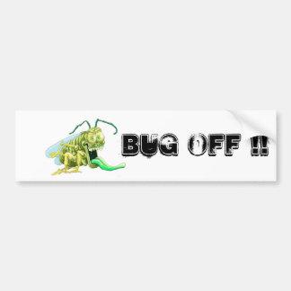 Bug off car bumper sticker