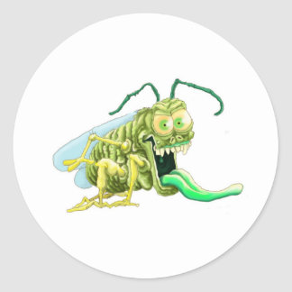 Bug off classic round sticker