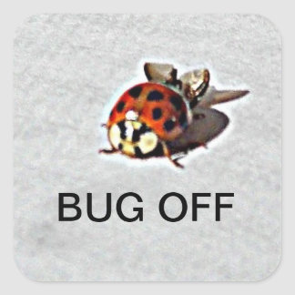 Bug off Stickers