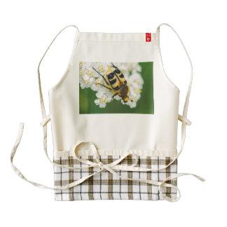 Bug on a white flower macro zazzle HEART apron