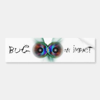 Bug On Impact Car Bumper Sticker