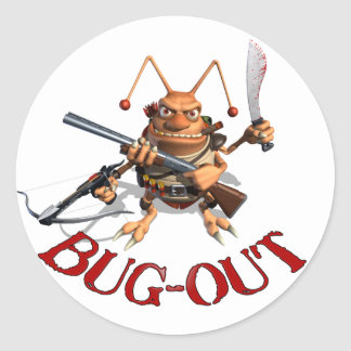 Bug-Out Classic Round Sticker