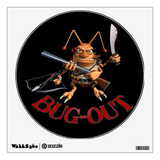 Bug-Out Coackroach Wall Decals