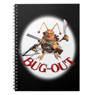 Bug-Out Cockroach Note Books