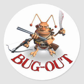 Bug-Out Cockroach style. Classic Round Sticker