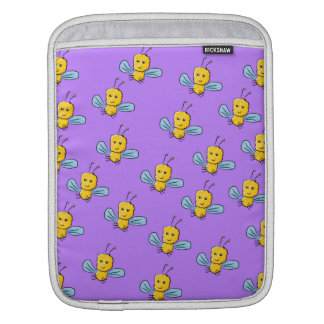 Bug Pattern. Yellow, Blue and Purple Sleeve For iPads