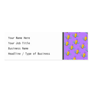 Bug Pattern. Yellow, Blue and Purple Mini Business Card