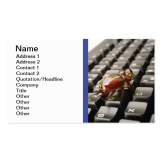 Bug problems business card