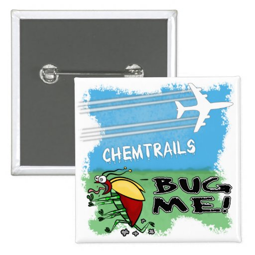 Bug running away from chemtrail plane button
