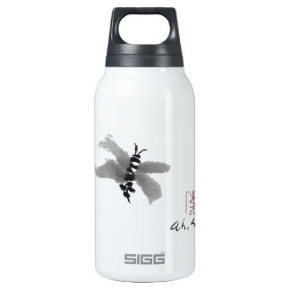 Bug, Sumi-e by Andrea Erickson Insulated Water Bottle