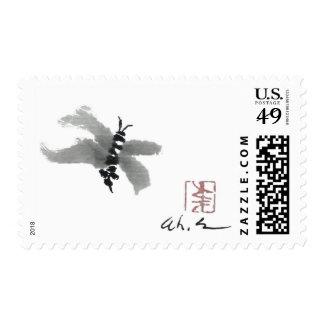 Bug, Sumi-e by Andrea Erickson Stamps