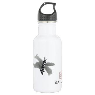 Bug, Sumi-e by Andrea Erickson Water Bottle