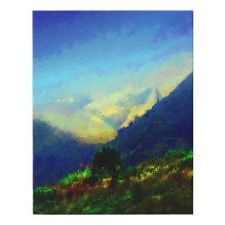 Bug Sur Hills Faux Canvas Print