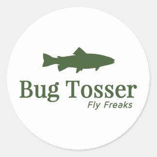 Bug Tosser Logo Classic Round Sticker