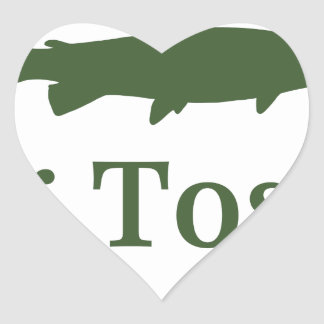 Bug Tosser Logo Heart Sticker