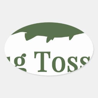 Bug Tosser Logo Oval Sticker