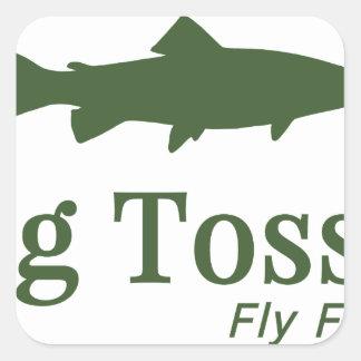 Bug Tosser Logo Square Sticker