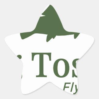 Bug Tosser Logo Star Sticker