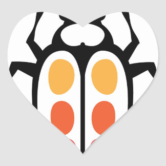 Bug vector heart sticker