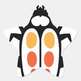 Bug vector star sticker