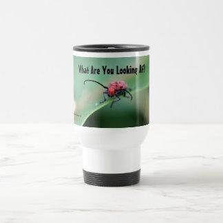 Bug With Attitude Nature Photo Cute Travel Mug
