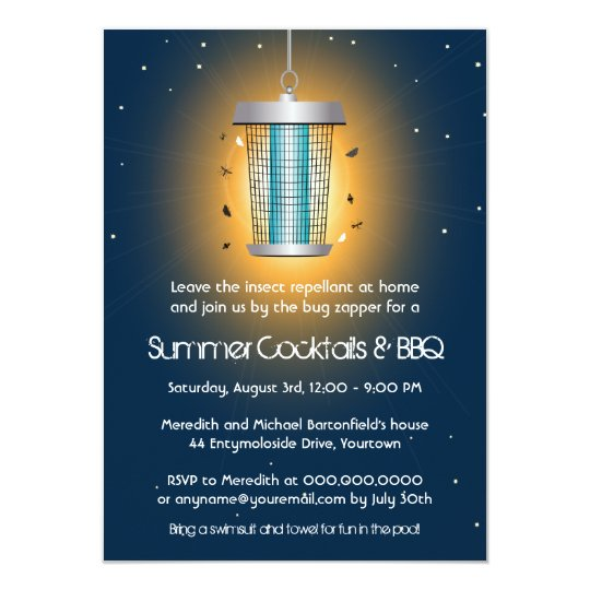Bug Zapper Summer Party Card