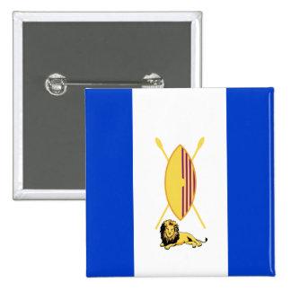 Buganda, Tuvalu flag 2 Inch Square Button