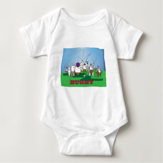 Bugby- because bugs play ball too! baby bodysuit