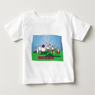 Bugby- because bugs play ball too! baby T-Shirt