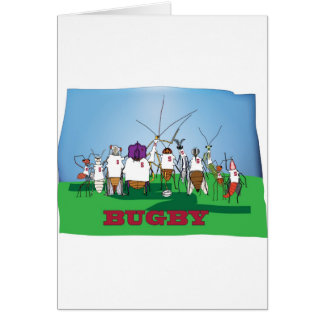 Bugby- because bugs play ball too! card