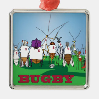 Bugby- because bugs play ball too! metal ornament