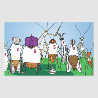 Bugby- because bugs play ball too! rectangular sticker