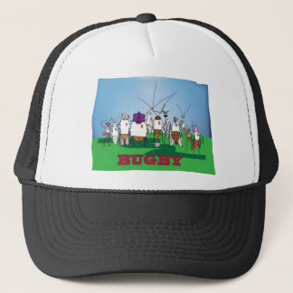 Bugby- because bugs play ball too! trucker hat