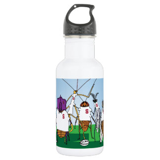 Bugby- because bugs play ball too! water bottle