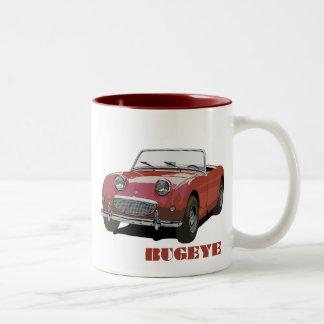 Bugeye rojo taza de dos tonos