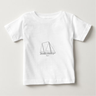 Bugeye Sailboat (line art) Baby T-Shirt