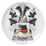 Bugge Family Crest Party Plates