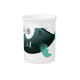 bugged eyed crazy fish drink pitcher